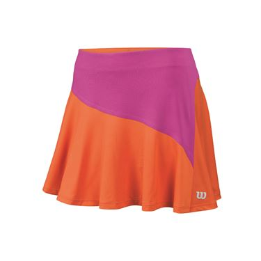 Wilson Star Bonded 13.5 Inch Skirt - Nasturtium/Rose Violet