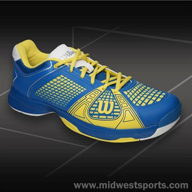 Wilson Rush NGX Mens Tennis Shoe New Blue/Sun WRS317800
