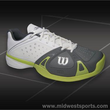 Wilson Rush Pro Mens Tennis Shoe White/Graphite/Green Glow WRS318670