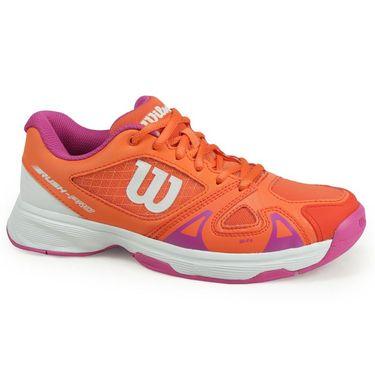 Wilson Junior Rush Pro 2.5 Tennis Shoe - Nasturtium/Rose Violet