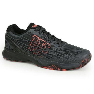 Wilson Kaos Mens Tennis Shoe - Ebony/Fiery Coral