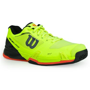 Wilson Rush Pro 2.5 Mens Tennis Shoe - Safety Yellow/Black/Fiery Coral