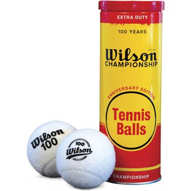 Wilson 100 Year Anniversary Extra Duty Tennis Balls (Can)