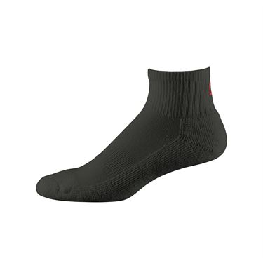 Wilson Comfort Fit Quarter Sock - Black
