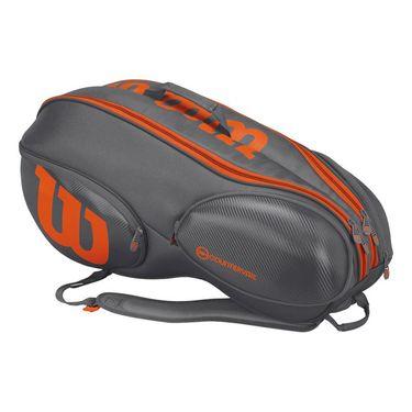 Wilson Burn 9 Pack Tennis Bag - Grey/Orange