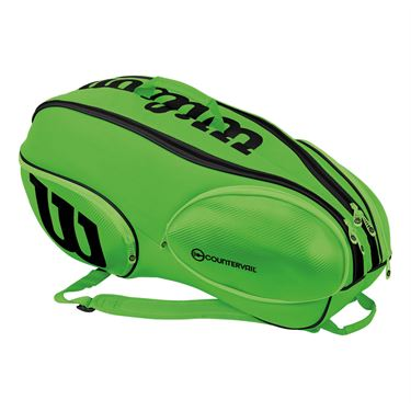 Wilson Blade 9 Pack Tennis Bag - Green/Black