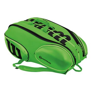 Wilson Blade 15 Pack Tennis Bag - Green/Black