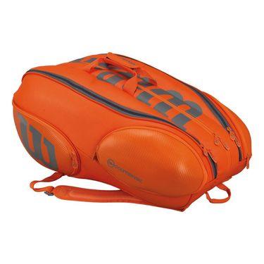 Wilson Burn 15 Pack Tennis Bag - Grey/Orange