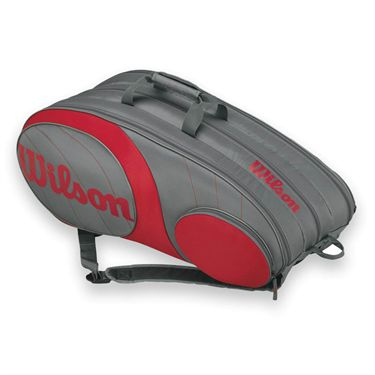 Wilson Team 2015 Gunmetal/Red 12 Pack Tennis Bag