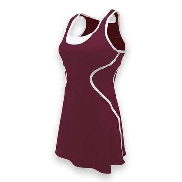 SSI Sophia Tennis Dress - Burgundy/White