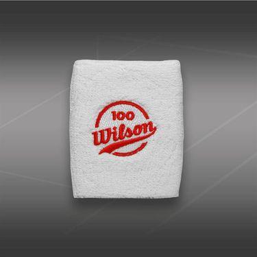 Wilson 100 Year Doublewide Wristband-White, WTL016001