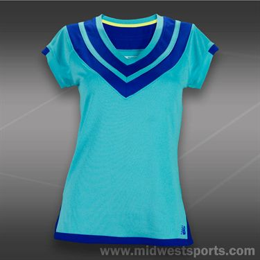 New Balance Challenger V Neck Top -Paradise