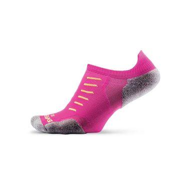 Thorlo Experia No Show Tab Tennis Sock- Pink Glo