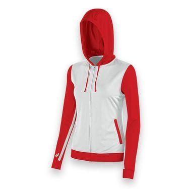 Asics Lani Warm Up Jacket - White/Red