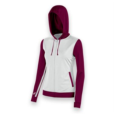 Asics Lani Warm Up Jacket - White/Cardinal