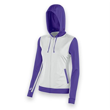 Asics Lani Warm Up Jacket - White/Purple