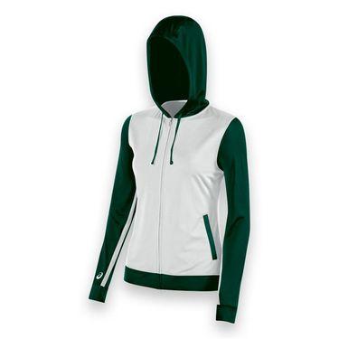 Asics Lani Warm Up Jacket - White/Forest