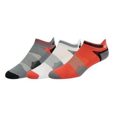 Asics Quick Lyte Cushion Single Tab Sock (3 Pack) - Cone Orange/Assorted