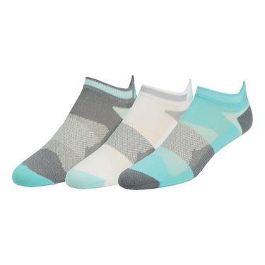 Asics Quick Lyte Cushion Single Tab Sock (3 Pack) - Turquoise/Crystal Blue