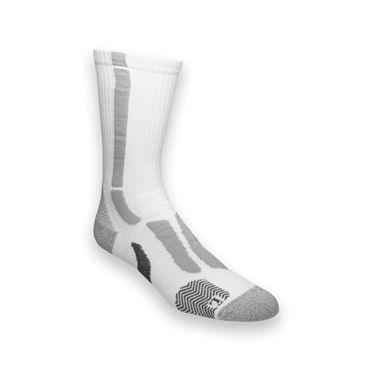 Asics Resolution Crew Sock - White/Grey