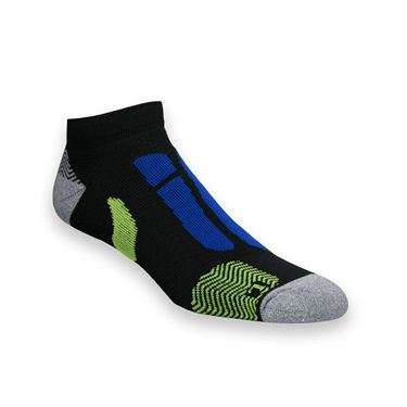 Asics Resolution Low Cut Tennis Sock - Black/Blue