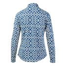 Icikuls Long Sleeve Mock Top - Lattice Navy