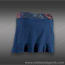 Sofibella Style Back Ruffle Skirt-Cobalt