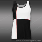 Eliza Audley Color the Court Checker Tank-Black