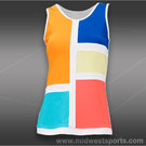 Eliza Audley Color the Court Tank-White