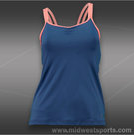 Sofibella Style Athletic Cami Tank-Cobalt/Sorbet