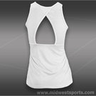 Lija Force Cross Back Tank-White