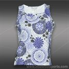 Jerdog Waves of Blue V Squared Tank -Periwinkle