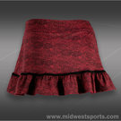 Jerdog Bordeaux Lace Ruffle Skirt