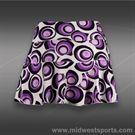 Jerdog Full Circle Printed Swing Skirt-Orchid/Eggplant