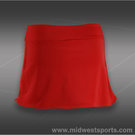 Jerdog Red Flamingo Side Pleat Skirt