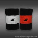 Babolat Reversible Jumbo Wristband-Black/Orange