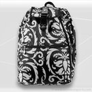 Jet Pac Black and White Paisleys Cooljet Tennis Backpack