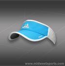 adidas Womens adizero II Visor-Solar Blue/White