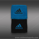 adidas Interval Reversible Wristbands-Blue/Black