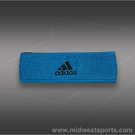 adidas Interval Reversible Headband-Solar Blue/Black