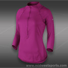 Nike Baseline 1/2 Zip Top-Bright Magenta