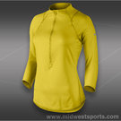 Nike Baseline 1/2 Zip Top-Bright Citron