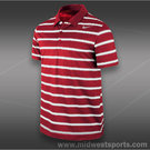 Nike Rally Sphere Stripe Polo-Gym Red