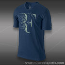 Nike RF V-Neck T-Shirt-Brave Blue