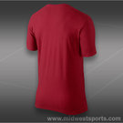 Nike RF V-Neck T-Shirt-Gym Red