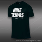 Nike Tennis Shirt-Black