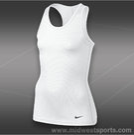 Nike Girls Ya Sculpt Tank-White