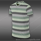 Nike Dri Fit Touch Stripe Henley-Diffused Jade