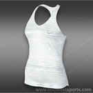 Nike Advantage Printed Tank-White