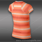 Nike Advantage Printed Top-Atomic Orange